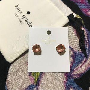 KSNY studs gum drop earrings (light peach)